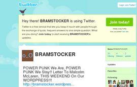 BRAMSTOCKER On TWITTER Began TODAY, February 13!!!!!!!!!!